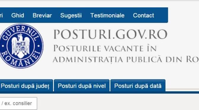 Locuri de muncă vacante în instituțiile publice din județul Suceava (6 mai 2018)
