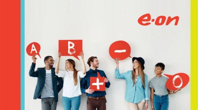 """E.ON elimină litera """"O"""" din  numele brandului, cu ocazia  Zilei Mondiale a Donatorului de Sânge"""