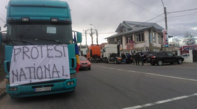 Transportatorii români vor relua protestele în stradă